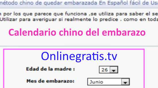 Calendario Chino Embarazo Real.Calendario Chino Test Embarazo Online Gratis